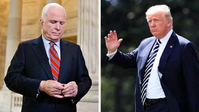 Media praise McCain, fault Trump