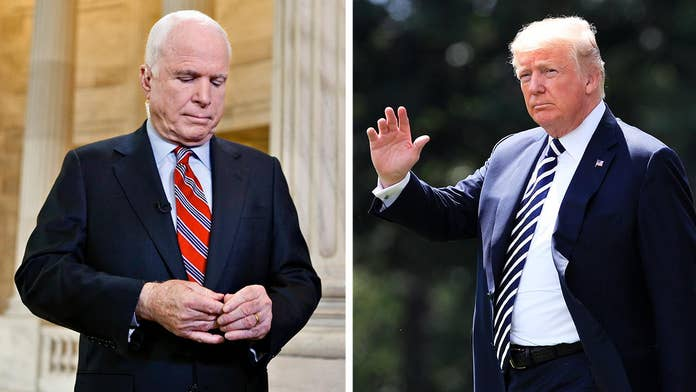 Trump rips into McCain's legacy, support for Iraq War during speech to Ohio plant workers