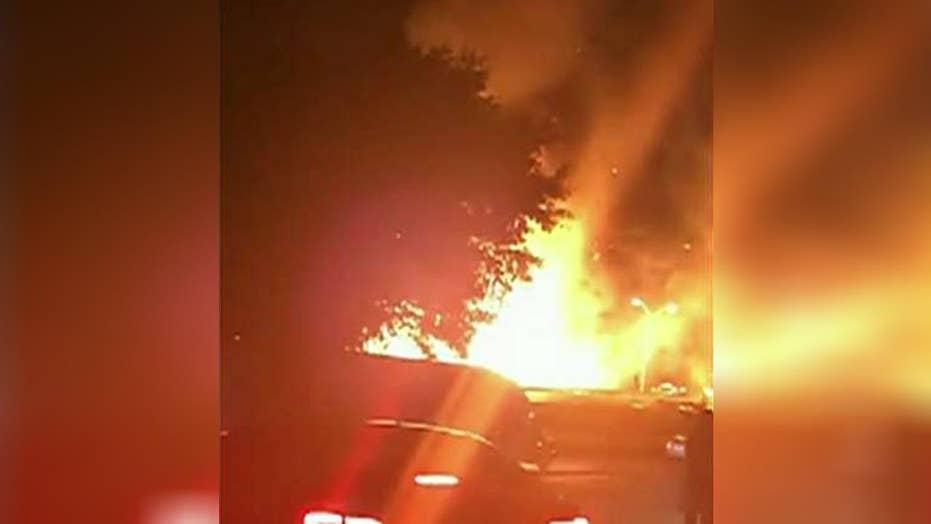 Truck carrying Axe body spray explodes