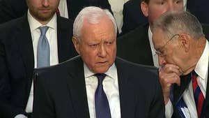 Republican member of the Senate Judiciary Committee Sen. Orrin Hatch says 'we shouldn't have to put up with this kind of stuff' as protesters shout during the Senate confirmation hearing for Supreme Court nominee Brett Kavanaugh.