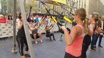 Randy Hetrick brings his body weight harness invention from the field to 'Fox & Friends.'
