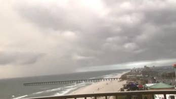 The storm strengthens as it tracks its way north through the Gulf of Mexico, bringing fears of pounding rain, tropical storm force winds, dangerous storm surge and flash flooding.