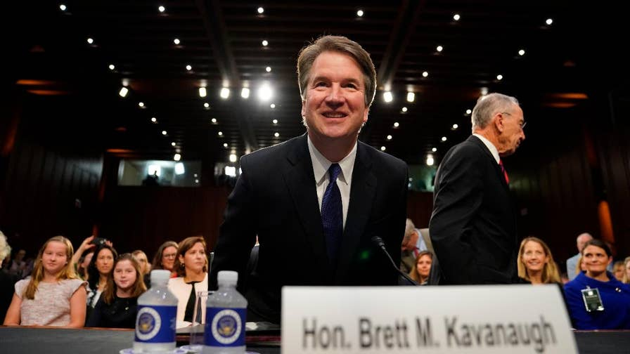 President Trump's Supreme Court nominee Judge Brett Kavanaugh sat before the Senate Judiciary Committee. The confirmation hearing was derailed just seconds into the meeting. Here's a look at some of the fiery exchanges.