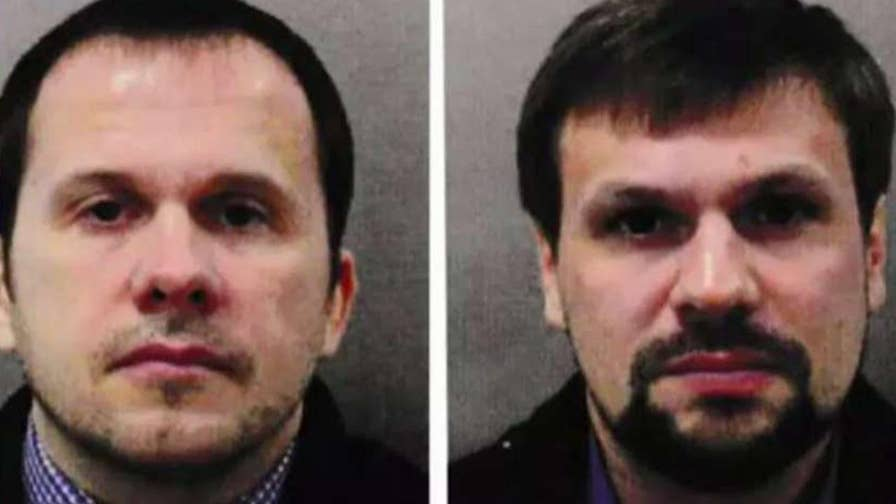 British authorities charge two Russian men with attempted murder over the poisoning of an ex-spy and his daughter.