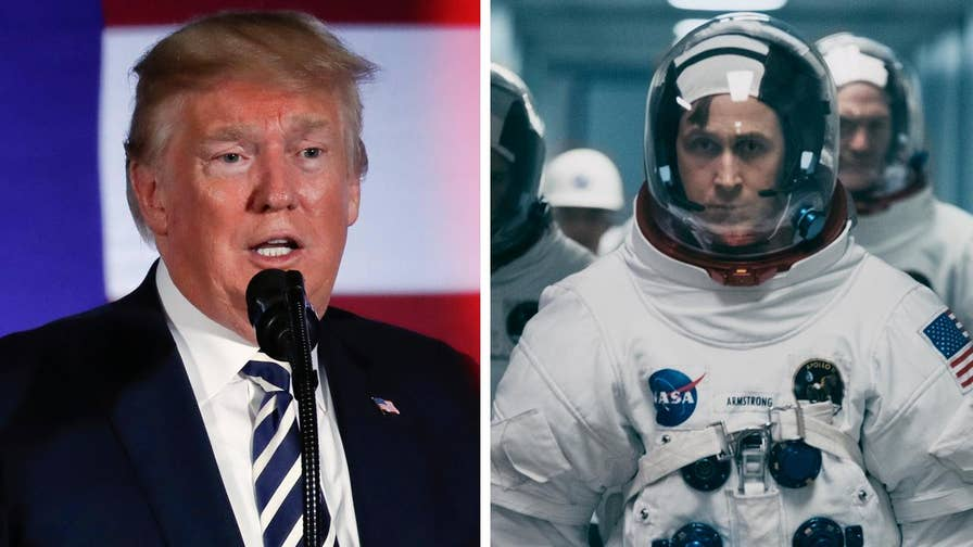 President Trump has publicly stated that he has no interest in seeing the Neil Armstrong biopic 'First Man' after the director's decision to omit the moment when the famed astronaut planted an American flag on the moon.