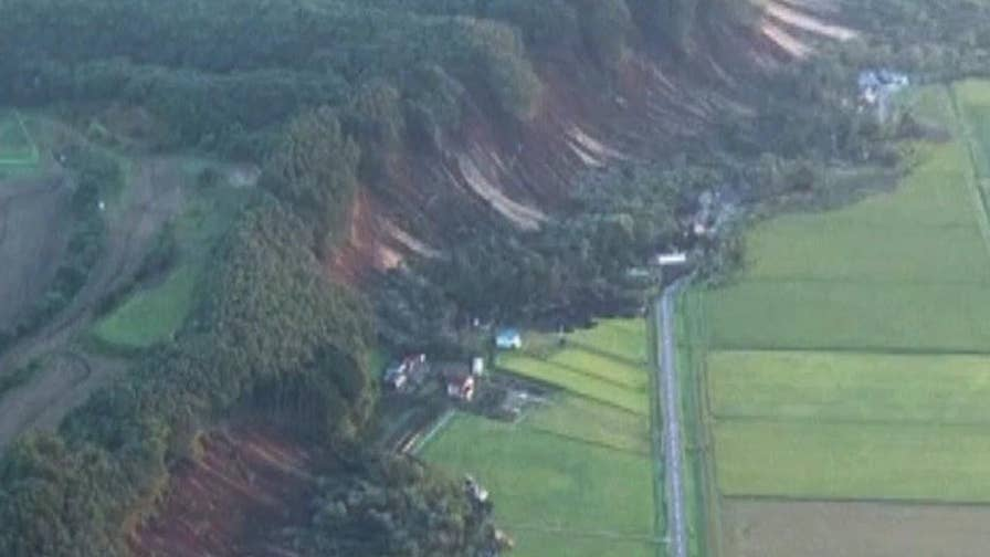 Earthquakes slam Japan 20 minutes apart, days after deadly typhoon.