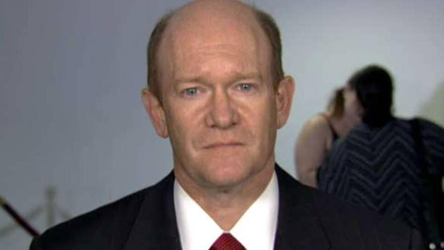 Judge Brett Kavanaugh questioned about his record during Supreme Court confirmation hearing; Senator Chris Coons shares insight on 'The Story.