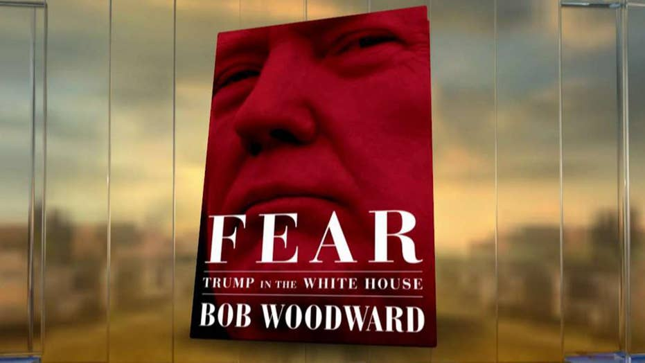 Trump fires back at claims in Bob Woodward's book