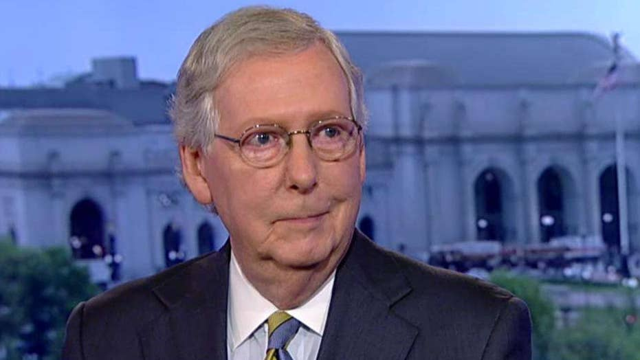 Mitch McConnell on 'resistance' op-ed, Kavanaugh hearings