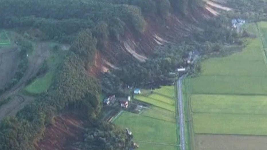 Powerful earthquakes rock Japan