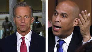 Republican Senator John Thune says Democratic Senator Cory Booker's decision to release secret Brett Kavanaugh emails in defiance of Senate rules was an appeal to the 'far-left base.'