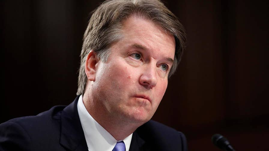 Supreme Court nominee Brett Kavanaugh testifies at his Senate confirmation hearing that he has never given any 'hints, forecasts, previews, winks' about his view of special counsel Robert Mueller's investigation.