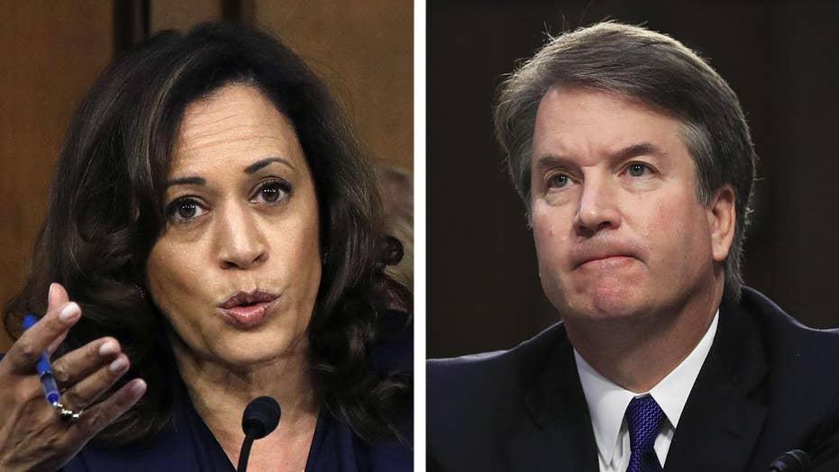 Kamala Harris asks Kavanaugh if he's discussed Mueller probe