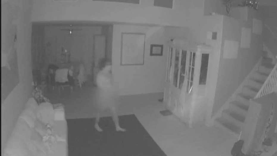 Naked intruder caught on camera entering California home