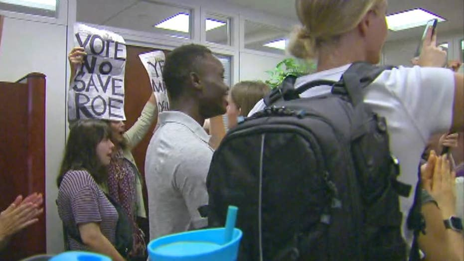 Kavanaugh protesters flood Chuck Grassley's office