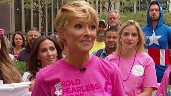 Gerri Willis marches in the Susan G. Komen Race for the Cure