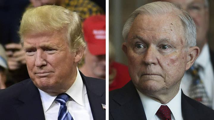 Trump suggests Sessions should uncover NYT op-ed writer