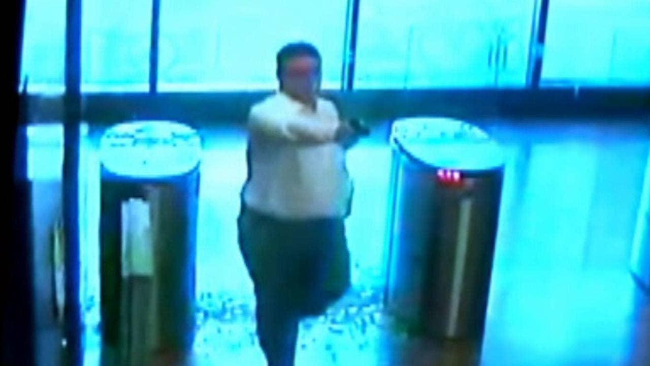 Cincinnati police release footage of gunman 'firing shots at anyone he sees'
