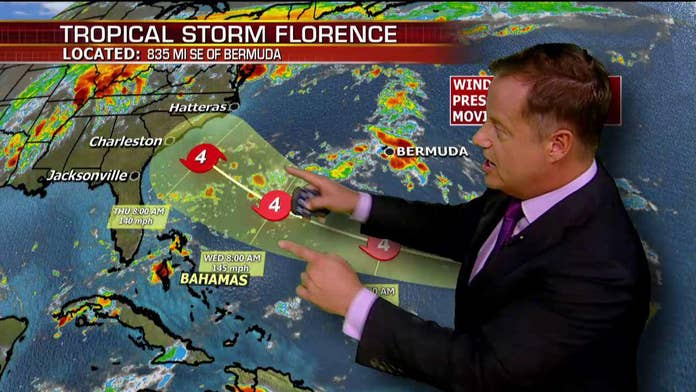 Tropical Storm Florence approach prompts state-of-emergency declaration in North Carolina