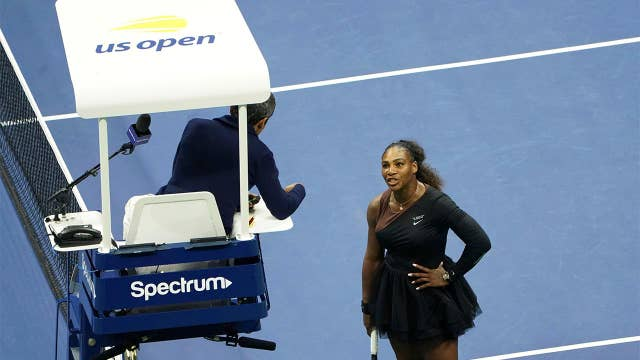 Serena whacked for tennis blowup