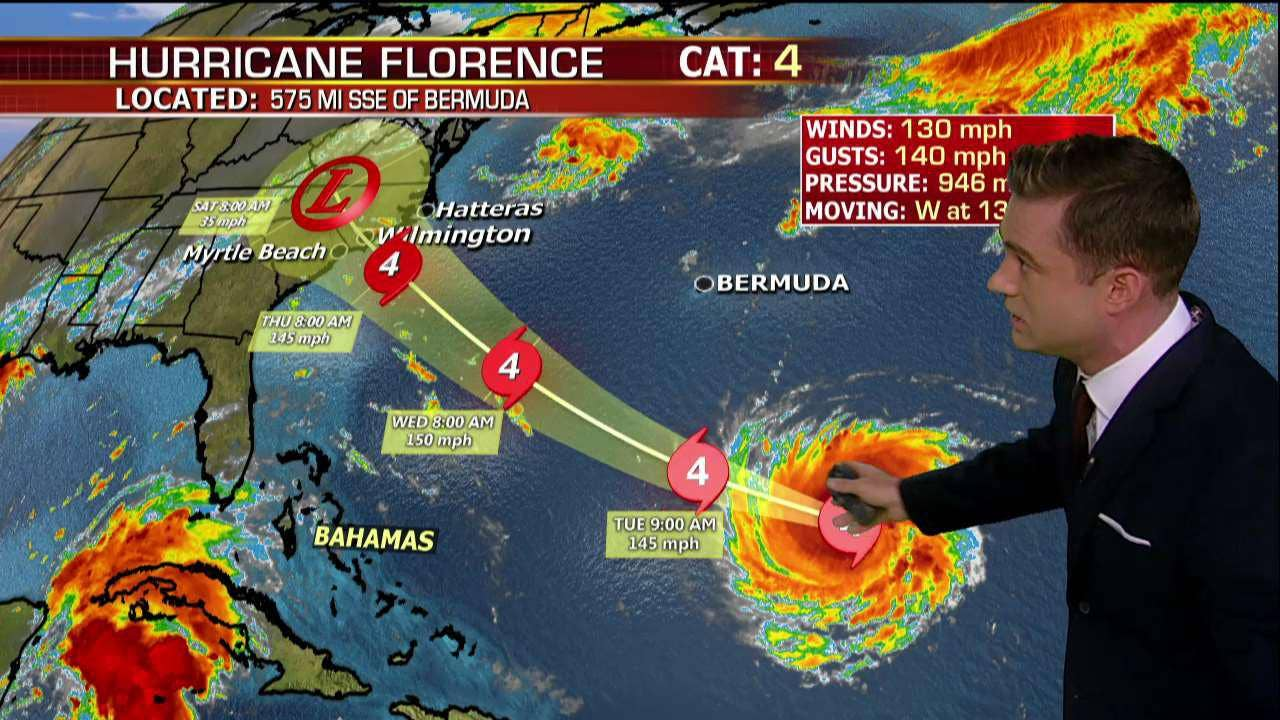 Ve Hurricane Florence Updated Category Patru  Barrels
