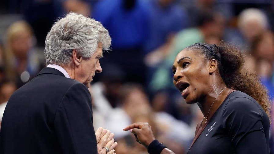 Serena Williams claims U.S. Open chair umpire Carlos Ramos would not have given code violations to a male competitor for similar infractions.
