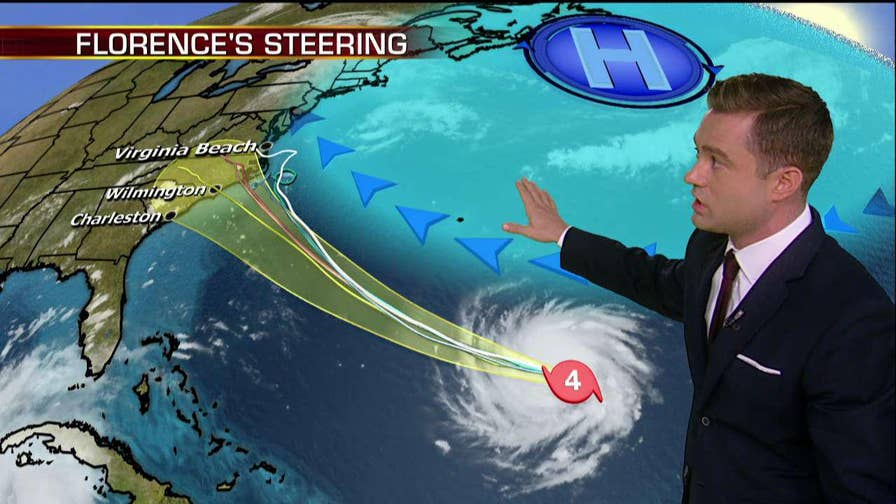 Hurricane Florence rapidly intensified into a potentially catastrophic category 4 storm on Monday; Adam Klotz tracks the storm from the Fox Extreme Weather Center.