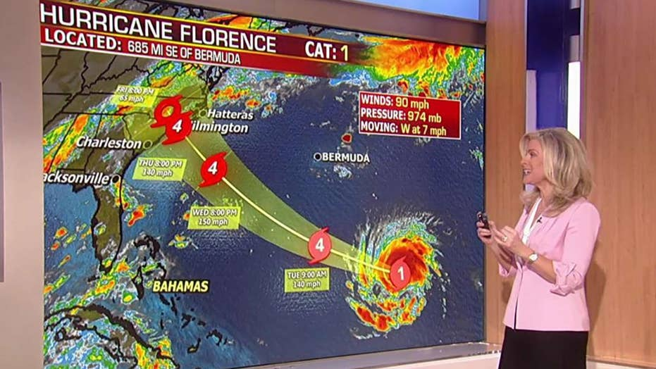 Florence expected to hit US as Category 4 hurricane