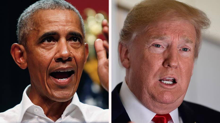 Obama bashes Trump, takes credit for good economy