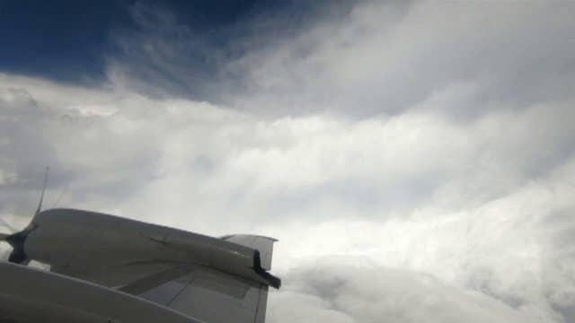 NOAA hurricane hunter penetrates Florence's eyewall