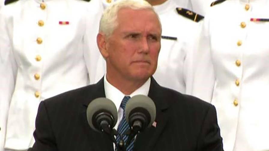 Vice President Pence delivers remarks at the Pentagon's 9/11 observance ceremony on the 17th anniversary of the September 11, 2001 terror attacks.