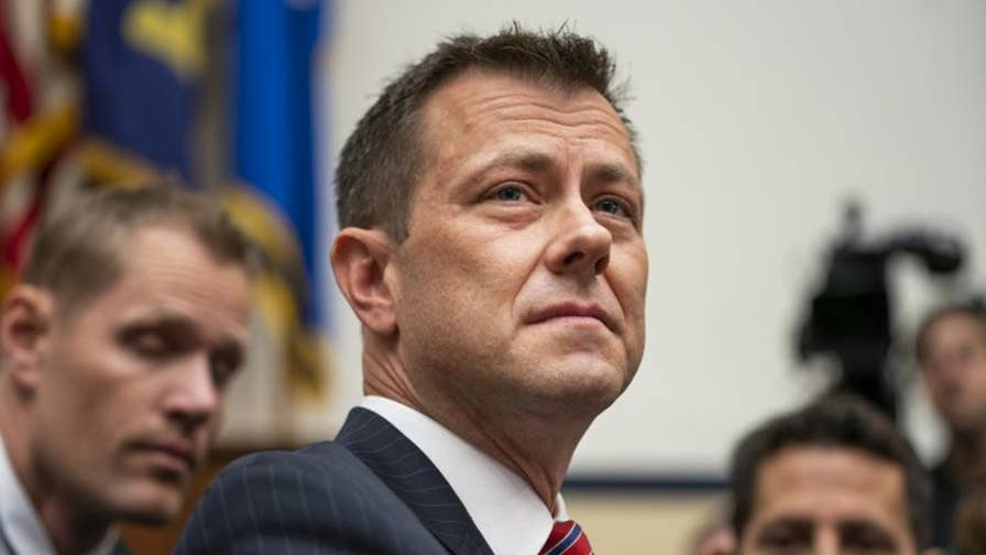 Strzok text messages mention a 'media leak strategy' against Trump. Catherine Herridge reports.