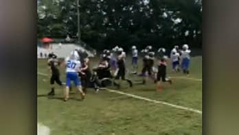 Raw video: Dream comes true for 5th grader, who was diagnosed with cerebral palsy as at toddler, when he scored a touchdown during game in Georgia.