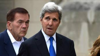 Trump administration officials say former Secretary of State John Kerry is trying to undercut U.S. policy when it comes to Iran; Rich Edson reports from the State Department.