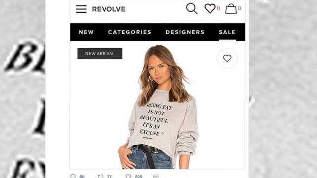 'Fat shaming' sweatshirt causes major backlash