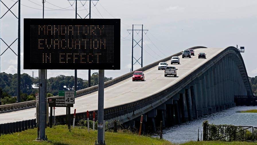 Jonathan Serrie reports on hurricane preparations from Wrightsville Beach, North Carolina.