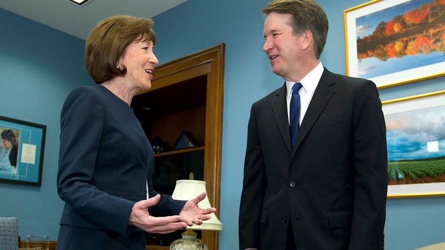 Crowdfunding campaign calls on the Republican senator to be a 'hero' and vote 'no' on the Supreme Court nominee or be replaced in 2020.