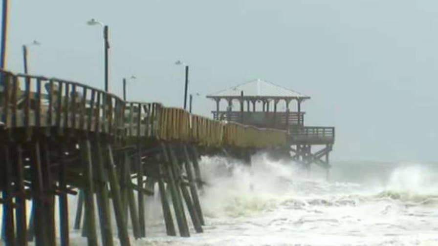 Hurricane Florence grows in size as coast feels first impacts. Griff Jenkins reports from Atlantic Beach, North Carolina.
