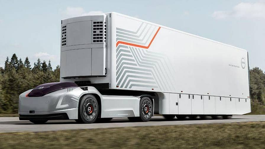 Volvo Trucks revealed its concept for a new self-driving electric semi-truck. It has been designed as a replacement for trucks that move large volumes of goods between fixed hubs.