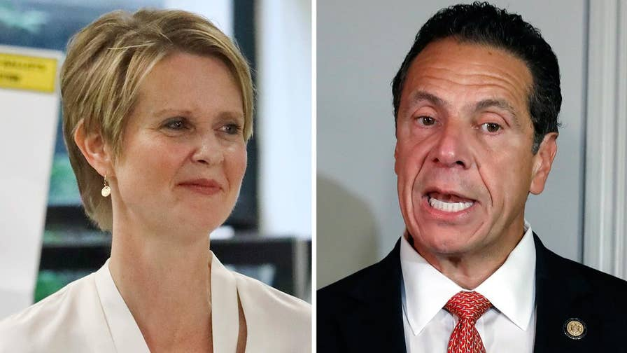 Incumbent Democratic Governor Andrew Cuomo looks to hold off a challenge from actress and progressive candidate Cynthia Nixon; Jacqui Heinrich reports.