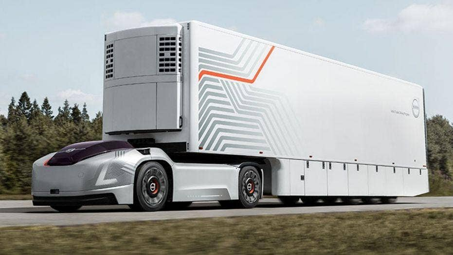 Volvo Trucks Show Off New Self Driving Electric Semi Concept