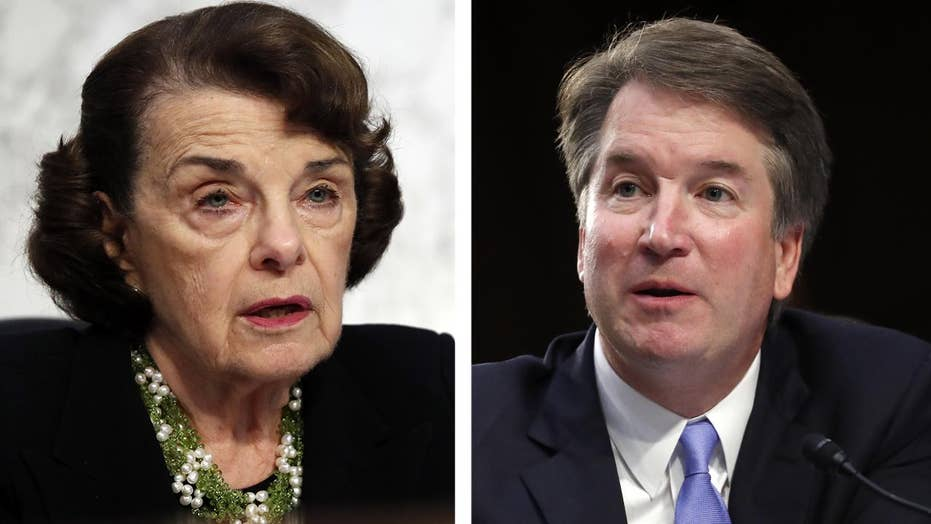 Sen. Feinstein suggests Brett Kavanuagh wrongdoing