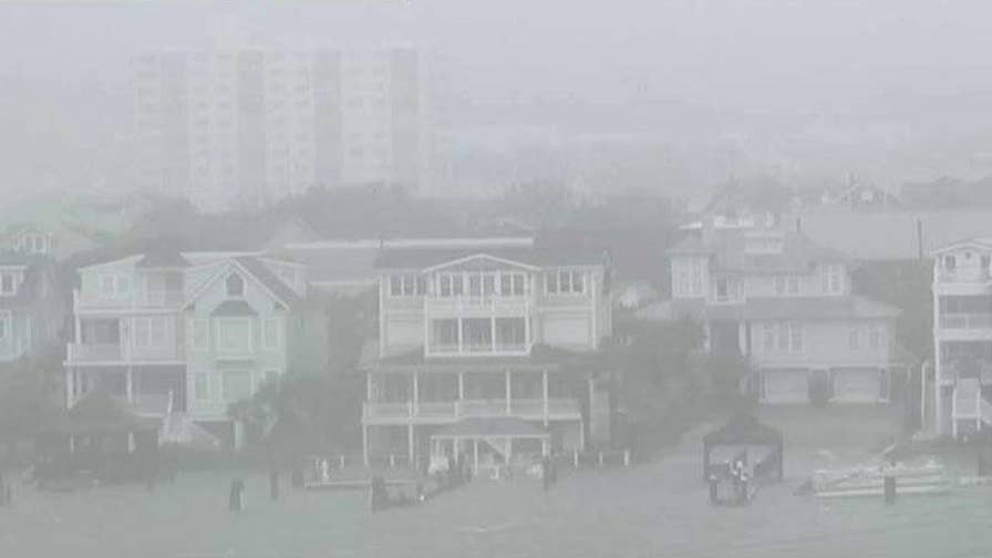 Mayor Bill Blair says flooding will take a while to assess in Wrightsville Beach, North Carolina.