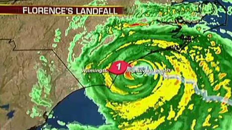 Hurricane Florence makes landfall in Wrightsville Beach, NC