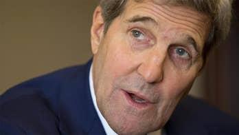 President Trump calls Kerry's sit-downs 'illegal.'