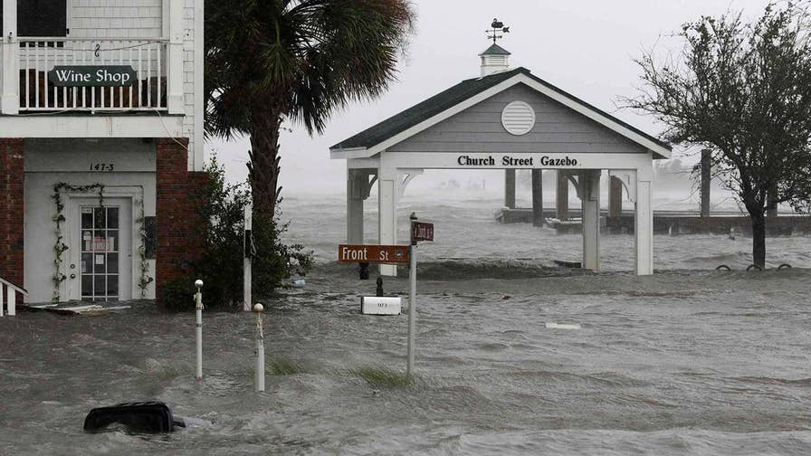 Tropical Storm Florence slowly moves across the Carolinas; Leland Vittert reports on the early signs of damage.