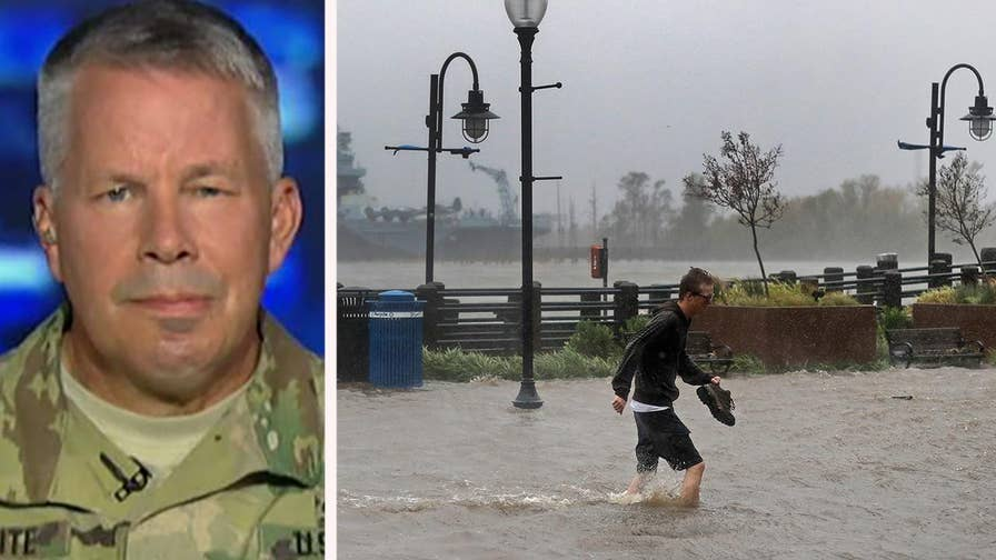 Military focuses on addressing flood water risks as Florence slowly moves across the Carolinas; insight from the U.S. Army Corps of Engineers on 'Fox & Friends.'