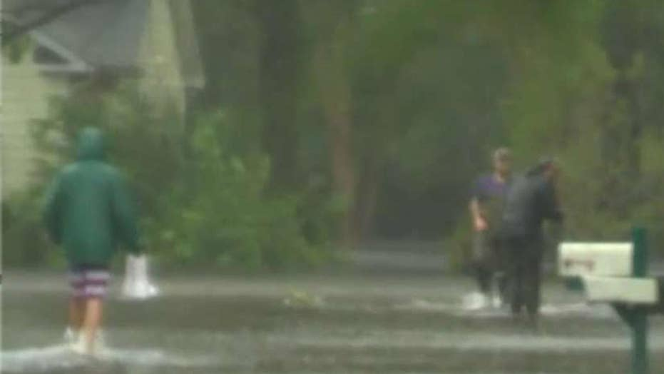 Rivers rise as Florence moves across the Carolinas