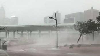 The typhoon brings winds reaching 160 miles per hour.