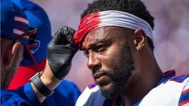 Buffalo Bills running back Taiwan Jones suffered a gruesome head injury during the team's 31-20 loss to the Los Angeles Chargers on Sunday.